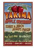 Yakima, Washington - Apple Orchard Art by  Lantern Press