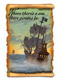 Pirate Ship Poster by Lantern Press