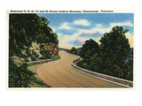 Lookout Mountain, Tennessee - View of US Highways 41, 11, and 64 across Lookout Mt Posters by  Lantern Press