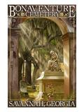 Savannah, Georgia - Bonaventure Cemetery Affiches par  Lantern Press