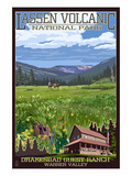 Drakesbad Valley - Lassen Volcanic National Park, CA Prints by  Lantern Press