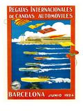 Regatta Internacionales De Canoas Promotion Affiches par  Lantern Press