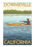 Downieville, California - Kayak Scene Posters by  Lantern Press