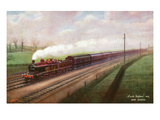 England - View of the Leeds Express Train Near Hendon Prints by  Lantern Press