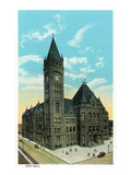 Cincinnati, Ohio - City Hall Exterior Poster by  Lantern Press