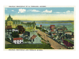 Quebec, Canada - Chateau Frontenac and Terrace Scene Poster by  Lantern Press