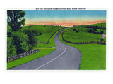Virginia - View of Sky-Top Drive on the Blue Ridge Parkway Prints by  Lantern Press
