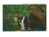 Gatlinburg, Tennessee - View of an Old Grist Mill, Great Smoky Mts. Nat'l Park Print by  Lantern Press