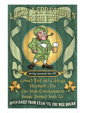 Savannah, Georgia - Leprechaun Irish Pub Posters by  Lantern Press