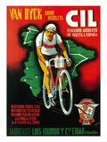 Cartel de carrera ciclista Lámina giclée prémium por  Lantern Press
