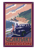 Lighthouse View - Gearhart, Oregon Print by  Lantern Press