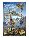 Seattle vs. The Giant Crabs Print by Lantern Press