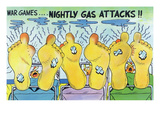 War Games, Nightly Gas Attacks, Soldiers with Smelly Feet Art by Lantern Press