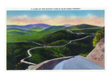 Virginia - Scenic View of and Along the Blue Ridge Highway Posters by Lantern Press 