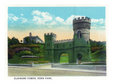 Cincinnati, Ohio - Eden Park Elsinore Tower Scene Print by  Lantern Press