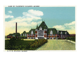 Quebec, Canada - Canadian Pacific Railroad Station Exterior Prints by  Lantern Press