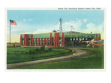 Ponca City, Oklahoma - View of the Municipal Airport Posters by  Lantern Press