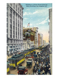 Los Angeles, California - Story Building View from Broadway and Sixth Street Prints by  Lantern Press