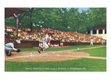 Williamsport, Pennsylvania - Kids Playing Little League Baseball Print by Lantern Press