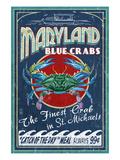Blue Crabs - St. Michaels, Maryland Kunst af  Lantern Press