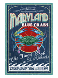 Blue Crabs - St. Michaels, Maryland Art by Lantern Press 