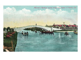 Venice, California - Miniature Railway Crossing Lagoon Bridge Prints by  Lantern Press