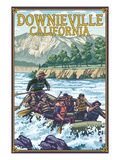 Downieville, California - Rafting Scene Prints by  Lantern Press