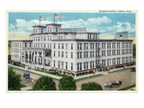 Tampa, Florida - De Soto Hotel Exterior View Posters by  Lantern Press