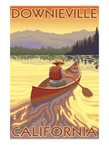 Downieville, California - Canoe Scene Posters by  Lantern Press