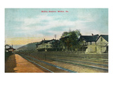 Mifflin, Pennsylvania - View of the Mifflin Train Station Art by  Lantern Press
