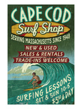 Cape Cod, Massachusetts - Surf Shop Prints by  Lantern Press