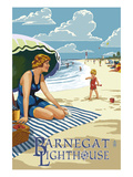Barnegat Light, New Jersey - Beach Scene Prints by  Lantern Press