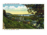 Quebec, Canada - Scenic View of St. Anne De Beaupre and the Basilica Posters by Lantern Press