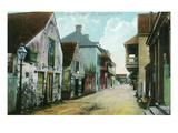 St. Augustine, Florida - Charlotte Street Scene Kunstdrucke von  Lantern Press