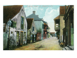 St. Augustine, Florida - Charlotte Street Scene Art by  Lantern Press