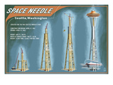 Seattle, Washington - Space Needle Construction Timeline Posters by  Lantern Press
