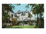 St. Augustine, Florida - Hotel Magnolia Exterior View Print by  Lantern Press