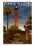 Ponce De Leon Inlet Lighthouse, Florida - Dusk Scene Art by Lantern Press