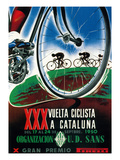 Cartel de carrera ciclista Póster por  Lantern Press