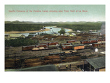 Panama - Pacific Entrance to Canal, La Boca Train Yard View Posters by  Lantern Press