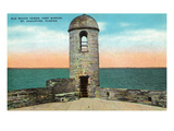 St. Augustine, Florida - Fort Marion Old Watchtower Scene Prints by  Lantern Press