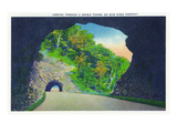 North Carolina - Blue Ridge Parkway, View Through a Double Tunnel on the Road Posters by  Lantern Press