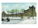 Syracuse, New York - NY State Armory Exterior View Prints by  Lantern Press