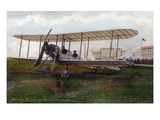 Hendon, England - Army Biplane at Farnborough Air Show Poster by  Lantern Press