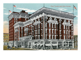 Battle Creek, Michigan - Post Tavern and New Annex Scene Posters by Lantern Press