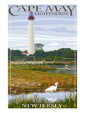 Cape May Lighthouse - New Jersey Shore Affiche par Lantern Press