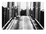 Tacoma, Washington - November 7, 1940 - Tacoma Narrows Bridge - Car on Bridge Art by  Lantern Press