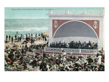 Long Beach, California - View of the Band Stand and Beach Art by Lantern Press 