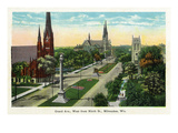 Milwaukee, Wisconsin - Grand Avenue West from 9th Street Prints by  Lantern Press