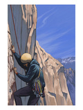 Rock Climber Poster by  Lantern Press